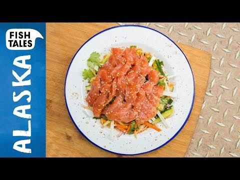 Wild SALMON Sashimi Salad | Bart van Olphen