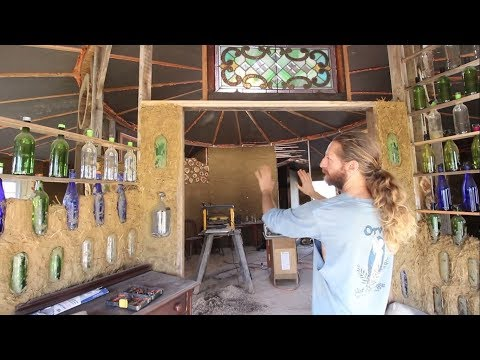 Clever Sustainable Design Features Of Hassan's Strawbale Round House Pt 2