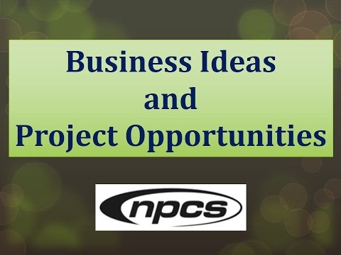 Business Ideas and Project Opportunities