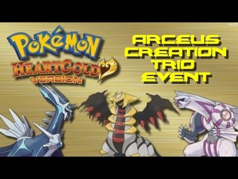 Pokemon Heart Gold: Dialga, Palkia, and Giratina Event (Using Arceus AR Code)