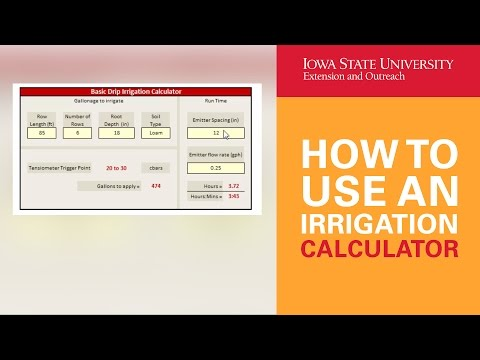 How to Use an Irrigation Calculator for a High Tunnel