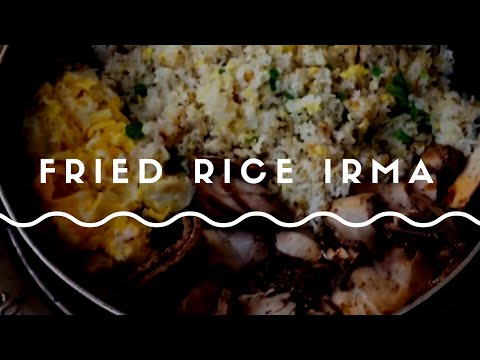 Fried rice during Irma storm