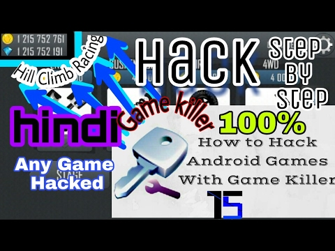 How to use Game Killer on a rooted Android Device explained in hindi(Hack Any Game) Hill Climb racin