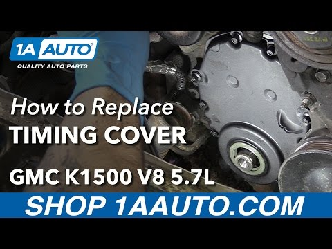 How to Install Replace Timing Cover 1996-00 V8 5.7L GMC K1500