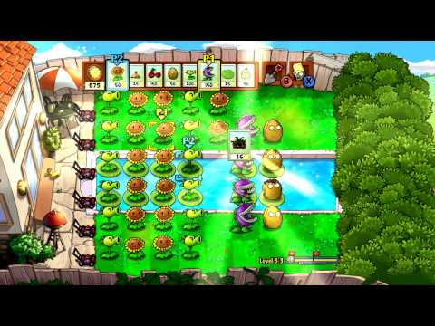 We Play Plants Vs Zombies Xbox 360 - Levels 3-3 and 3-4