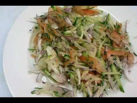 How to make Indian tomato cucumber onion mix chutney salad dips  Indian restaurant cooking
