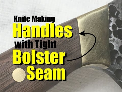 How to mount Knife handles or scales with tight bolster seam