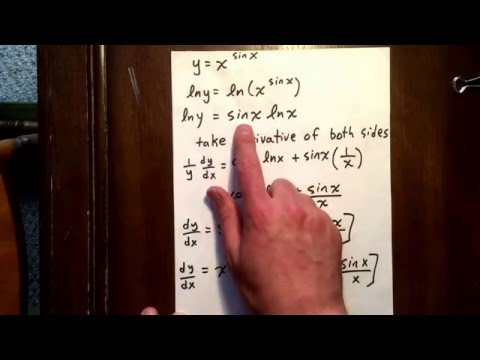 19 logarithmic differentiation
