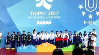 2017 Universiade Ping Pong Award Ceremony for female players