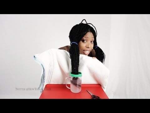 Sealing The Ends Of Senegalese / Rope Twist Tutorial Protective Hairstyle Part 5