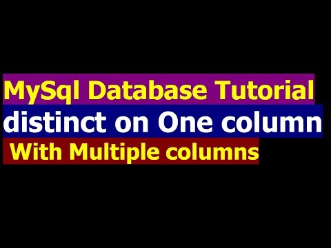 how to select distinct on one column with multiple columns