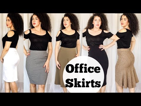 Work and Office Skirts   Mid Length Skirts   Workwear