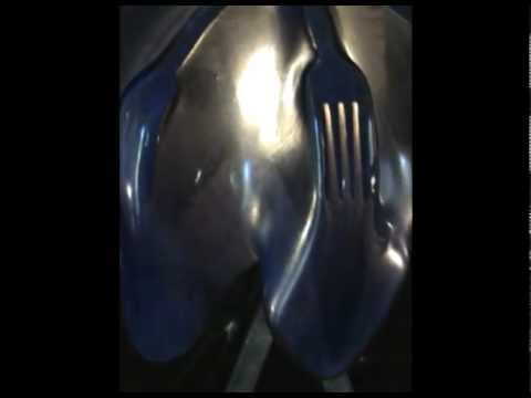 how to fuse glass and drape it over stainless steel - dinnerware party lamp