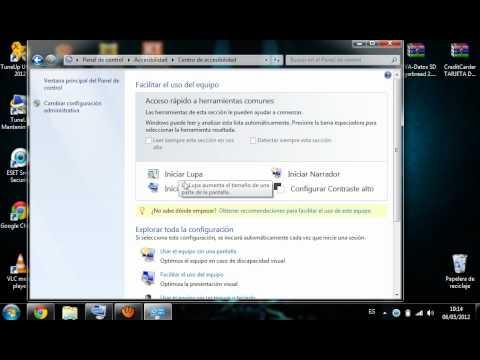 como poner teclado virtual en windows 7