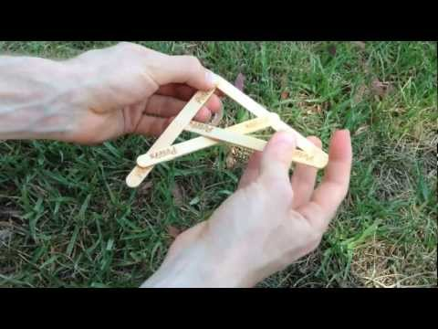 How to make a Boomerang out of ice cream sticks