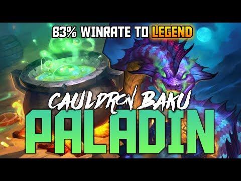 Legend with Cauldron Baku Paladin | The Witchwood | Hearthstone Expansion