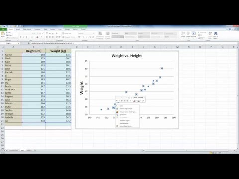 How To... Plot a Simple Scattergram in Excel 2010