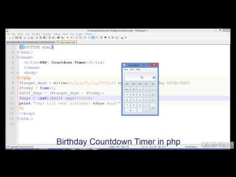 How to create Birthday Countdown Timer in PHP?