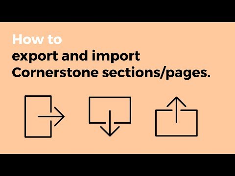V2 - Exporting and Importing Templates in Cornerstone