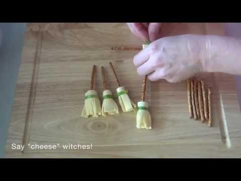 How to make cheesy pretzel broomsticks