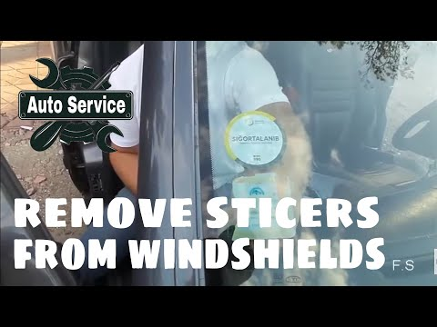 Remove Of The Stickets From Windshield In Your Car