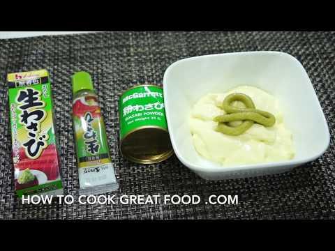 Wasabi Mayo - Recipes with Wasabi - Mayonnaise - Wasabi powder Paste