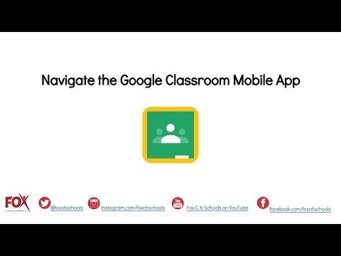 Navigating the Google Classroom Mobile App