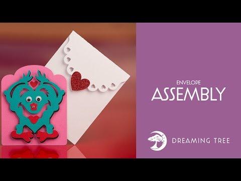 SVG File - Mini Monsters Valentine's Cards SVG - Envelope Tutorial