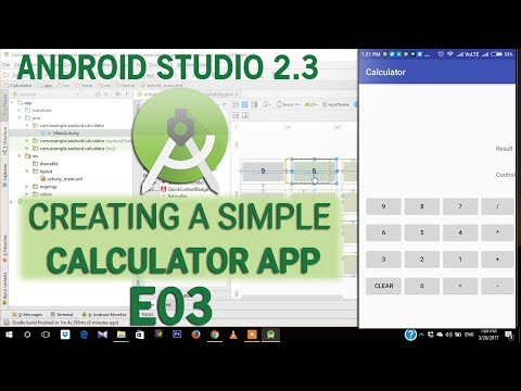 Simple Calculator App Tutorial E03 - Full Code Android 2.3
