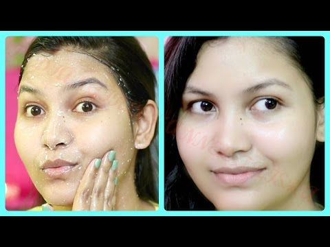 Get healthy glowing flawless skin by using a simple scrubber and Overnight sleeping facial mask