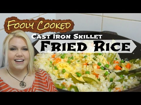 How to Cook FRIED RICE in a Cast Iron Skillet