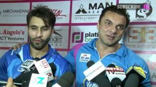 Sohail Khan and Arbaaz Khan at Second Match of Tony Premier League 2017