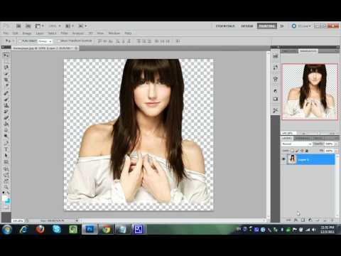 How to crop image in PHOTOSHOP CS5 Tutorial