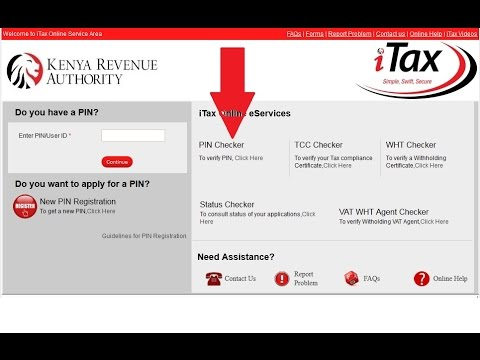 KRA iTax Pin Checker: How to check if a KRA iTax pin is Genuine