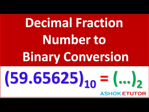 Decimal Fraction Number to binary conversion -