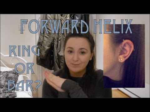 Forward Helix Piercing Experience  | Ring or Bar?