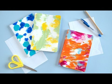 DIY Symmetrical Painting Back to School Notebooks | Curly Made