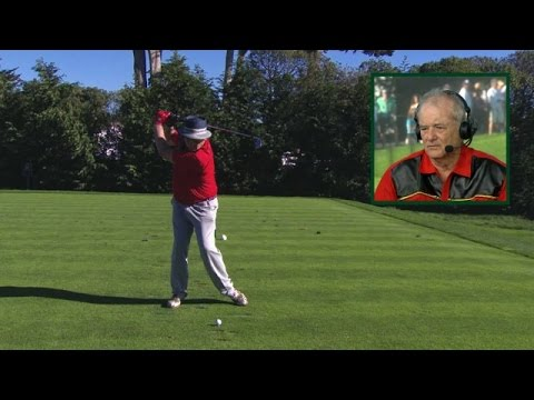Bill Murray's swing is analyzed at AT&T Pebble Beach