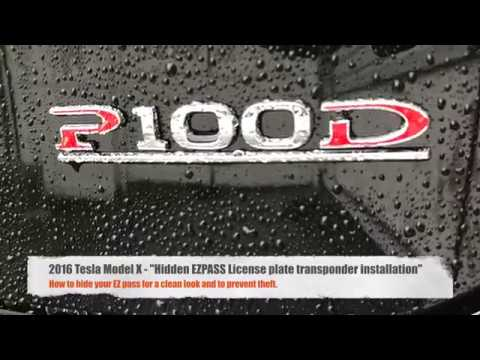 Tesla Model X Hidden EZpass transponder install
