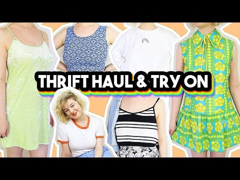 THRIFT HAUL & TRY ON 2018 | 60s, 70s, 80s and 90s clothes!