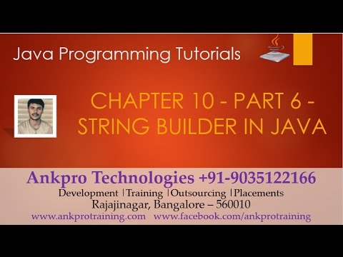 Java for beginners - Chapter 10 : String builder(append, insert, replace, delete & reverse) Part 6