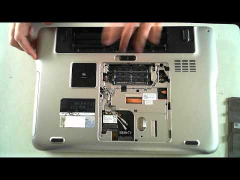 Dell XPS L501X Opening to Replace Hard Drive & Memory
