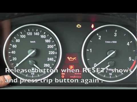 How to Reset the 2006-2011 BMW Maintenance Light (oil, brake, service)