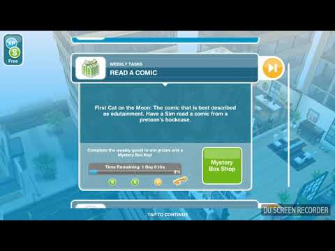 The Sims Freeplay - Read a Comic - Weekly Task