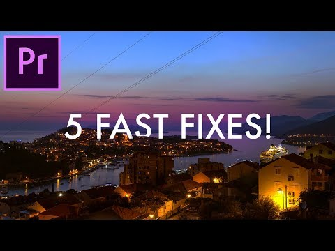 5 Fast Fixes to Common Frustrating Problems in Adobe Premiere Pro! (Video Editing How to) (CC 2018)