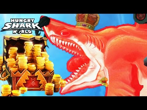 Hungry Shark World - How To Get A LOT of Gold Coins CRAZY FAST
