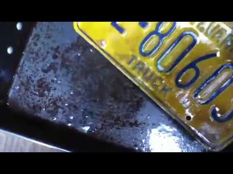 Old License Plate Cleanup
