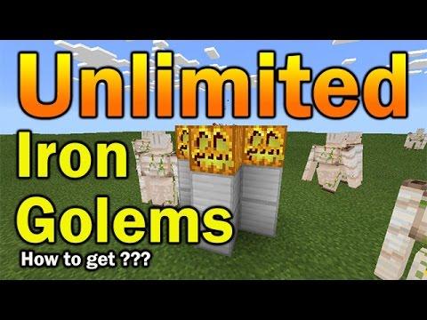UNLIMITED IRON GOLEMS !!! Iron Golem Egg and Spawner | Minecraft PE (Pocket Edition)