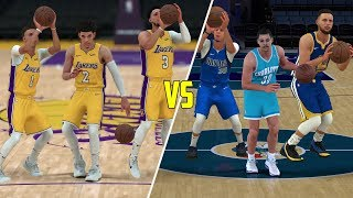 Ball Brothers vs Curry Family 3v3! NBA 2K18 Challenge!