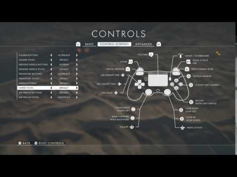 My plane control layout In Bf1
